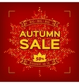 Autumn Sale card Fall discount banner vector image vector image