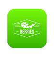 berries icon green vector image vector image