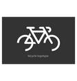 bicycle bike logo vector image