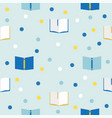 books seamless pattern vector image vector image