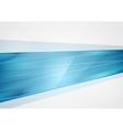 Bright abstract blue tech background vector image vector image