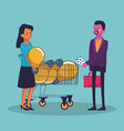 business money and people vector image