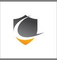 c abstract shield logo template vector image