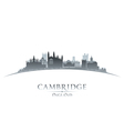 Cambridge England city skyline silhouette vector image vector image