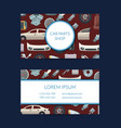 car parts business card template vector image vector image