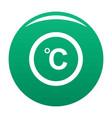 celsius icon green vector image