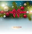 christmas background with balls and fir twig vector image vector image