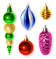 christmas decoration for fir tree vector image
