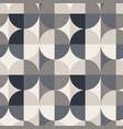 circle square seamless pattern vector image