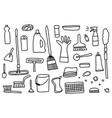 cleaning tools set cleaning equipment vector image