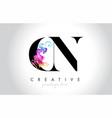 cn vibrant creative leter logo design vector image vector image