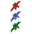 Colorful bow collection vector image vector image