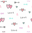 cute romantic background seamless pattern vector image