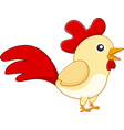 cute rooster vector image