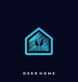 deer home template vector image