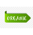 eco organic label or tag vector image vector image