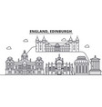 england edinburgh architecture line skyline vector image vector image
