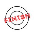 finish rubber stamp vector image vector image