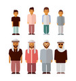 flat arabic boys and men isolated on white vector image vector image