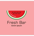Flat logo with the image of a piece of watermelon vector image