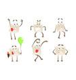 funny paper envelope cartoon character set cute vector image vector image