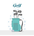 golf club sport concept vector image