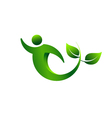Green Plant swoosh Abstract concept of Biology vector image vector image