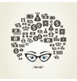Hairstyle money vector image