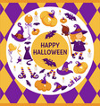 halloween background poster circle shape vector image