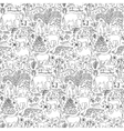 Hand drawn Asia seamless pattern vector image