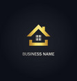 home real estate business gold logo vector image vector image