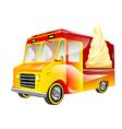 ice cream van vector image vector image