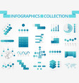infographics collection blue chart vector image