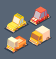 isometric transport 3d low poly vector image vector image