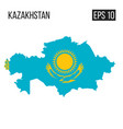 kazakhstan map border with flag eps10 vector image