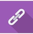 link single icon vector image vector image