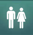 male and female icon isolated on modern background vector image vector image