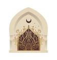 minaret or mosque entrance gate with a forged vector image vector image