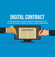 modern digital contract concept banner flat style vector image