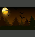 night simple background with moon and bats vector image