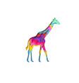 paper cut giraffe safari animals shape 3d origami vector image