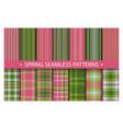 plaid pattern seamless ornate set spring vector image vector image