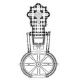 plan of st peters at rome 1546-1564 an example of vector image vector image