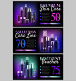 premium beauty voucher set vector image vector image