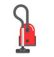 red vacuum cleaner vector image vector image