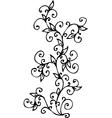 Refined Floral vignette CV vector image vector image