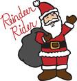 Reindeer Rider vector image vector image