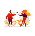 romantic couple - modern flat design style vector image