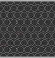 seamless heart rings pattern on dark hand drawn vector image vector image