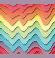 seamless pattern of wavy colored paper vector image vector image